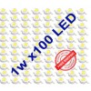 100 pcs LED Lamp Beads 1 Watt White LED