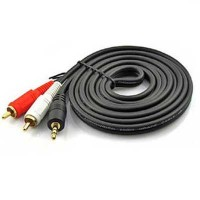 3.5mm Male to 2 RCA Male Stereo Audio Cable High Quality 1.5m